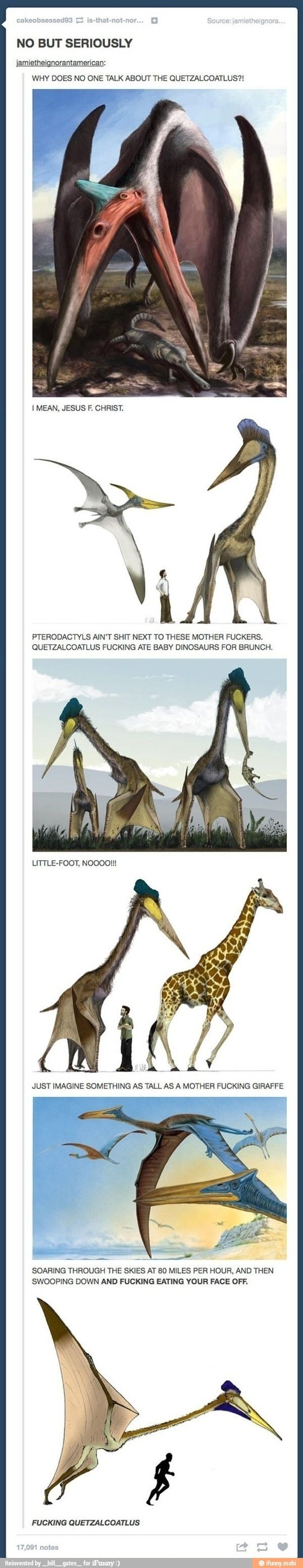 Why is it the Quetzalcoatlus? How does a scientist see this shit and not immediately think of a freaking dragon? Or the things from the Blue Avatar Movie??