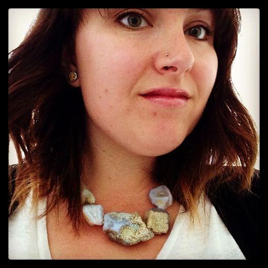 Blue Lace necklace - big rough gems