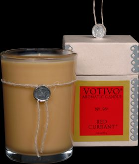 My favortie candle EVER! I personally think that heaven will smell like Red Currant by Votivo! =)