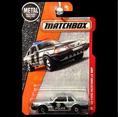 Matchbox, 2016 MBX Heroic Rescue, '93 Ford Mustang LX SSP [Silver] Police Car #66/125