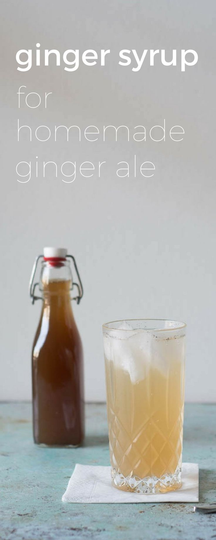 Ginger syrup for homemade ginger ale. A creamy, complex ginger syrup. Perfect in Moscow Mules, Dark & Stormies, and more. via @blossomtostem