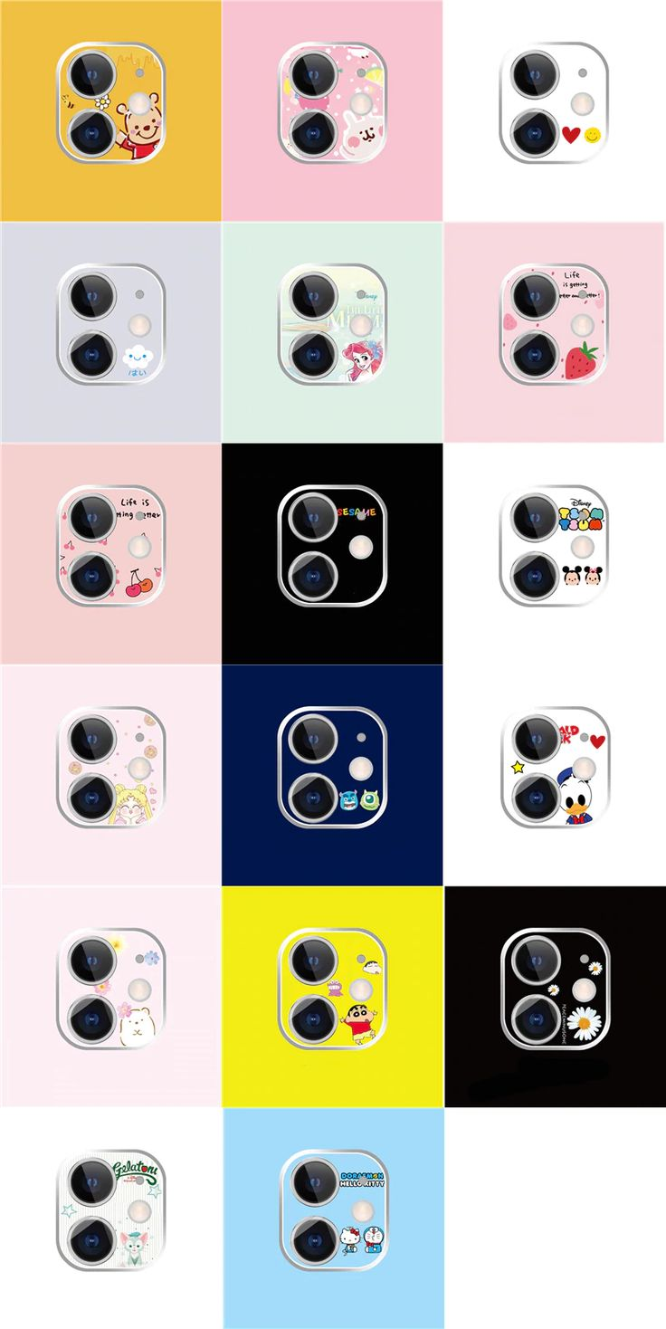 Funny cute cartoon back camera lens film for apple iphone