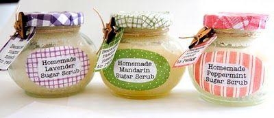 Homemade Sugar Scrub in Decorated Jars