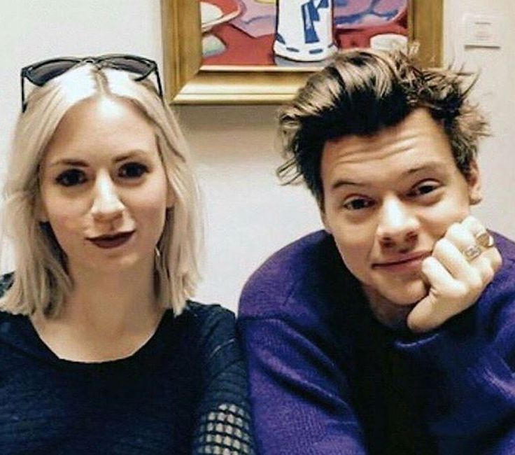 Harry Styles and his sister Gemma.