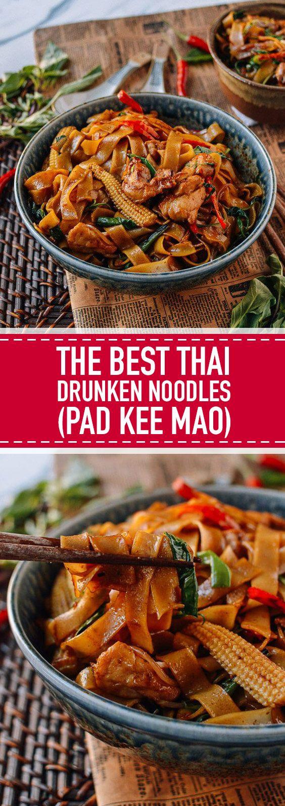The Best Thai Drunken Noodles (Pad Kee Mao)   This…