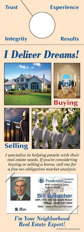102 best real estate pinkebaileys images on pinterest cards real estate door hangers with business card reamark reheart Image collections