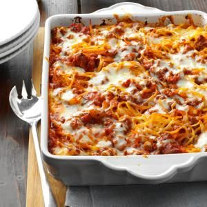 Mozarella Baked Spaghetti - made this recipe tonight and it was a keeper! Delicious.