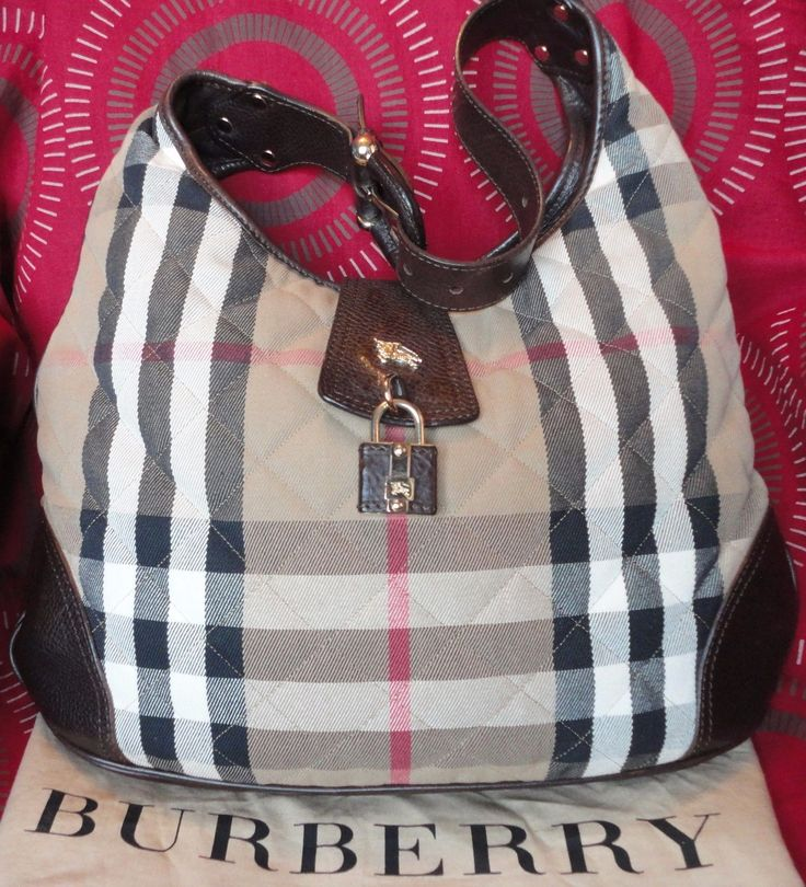 SALE! 100% AUTHENTIC BURBERRY QUILTED HOUSE CHECK HOBO BAG EXCELLENT USED COND | eBay