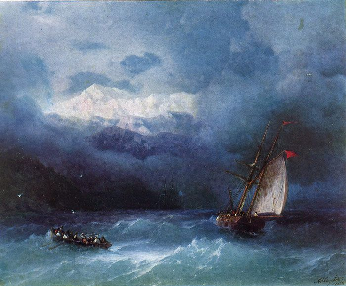 Stormy Sea 1868 Oil Painting Reproductions Stormy Sea Russian Painting