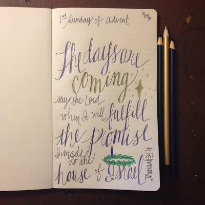 Look to Him and be Radiant: Advent: Sunday Scripture Doodles