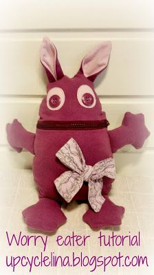 Diy: Worry eater (sorgenfresser) tutorial, how to draw the pattern and sew. Great use for upcycling clothes.