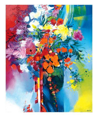 Bouquet en Mouvement Giclee Print by Max Laigneau