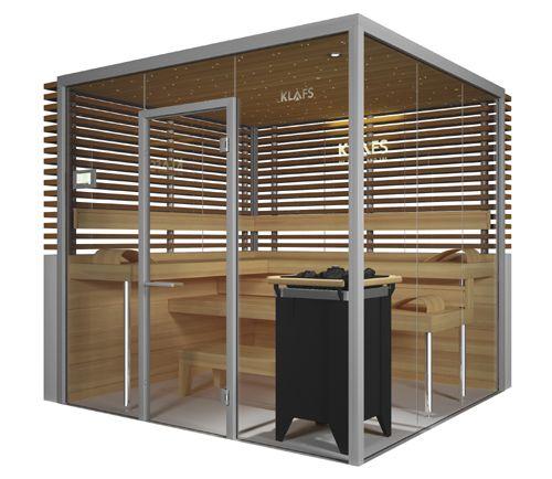 Glass Sauna Room Vitrium by Klafs