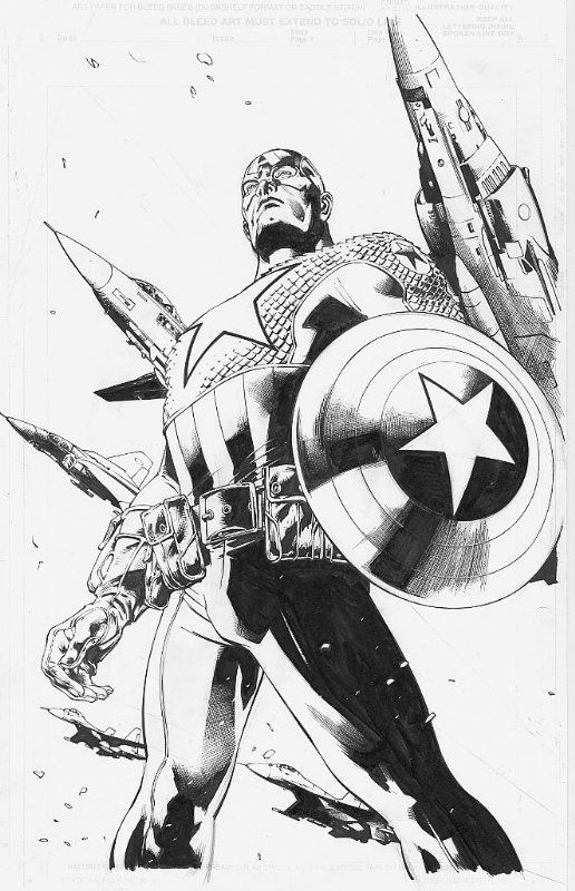 Ultimates #11 - Captain America by Bryan Hitch *