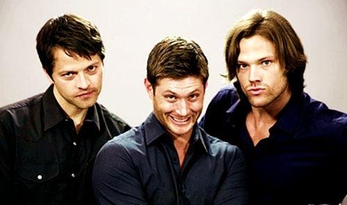 Misha Collins, Jensen Ackles and Jared Padalecki ...