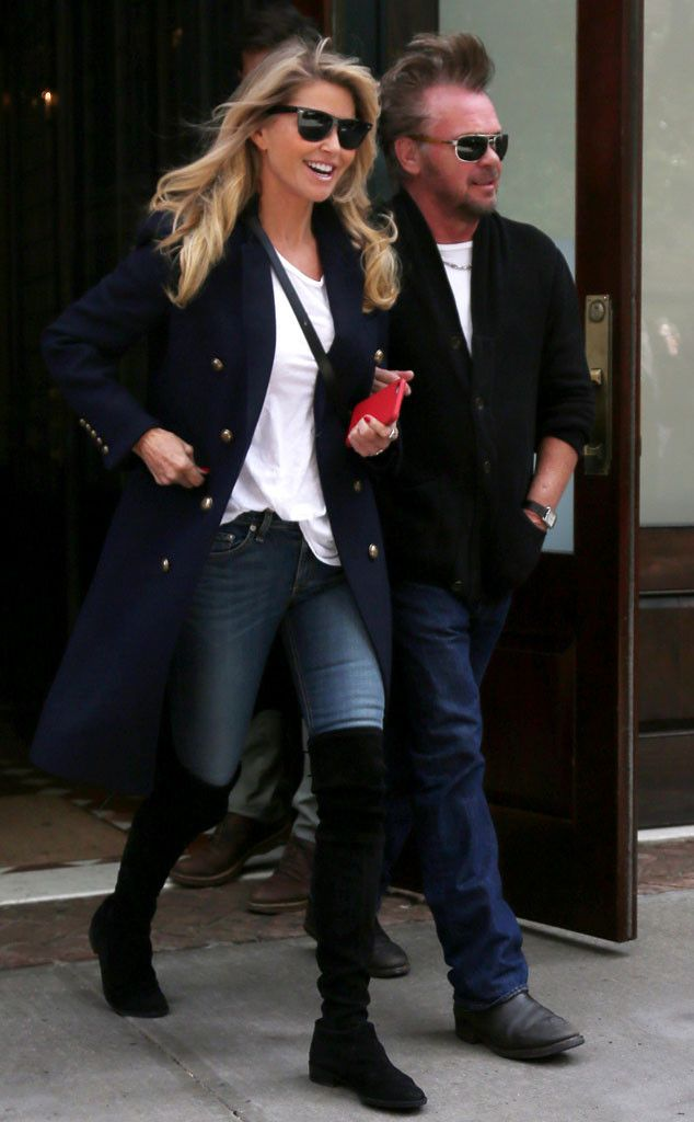 """Christie Brinkley & John Mellencamp from The Big Picture: Today's Hot Pics  The """"Jack and Diane"""" musician and the super model are spotted together in NYC."""