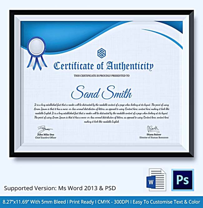 149 best certificate template images on Pinterest Certificate - certificate sample in word