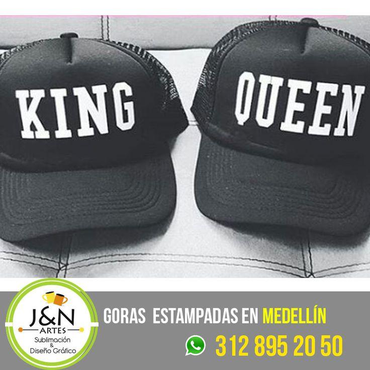 Gorra King Queen en medellin Estampadas