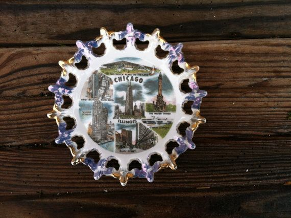 Retro souvenir plate from Chicagovintage by happydayantiques, $9.75
