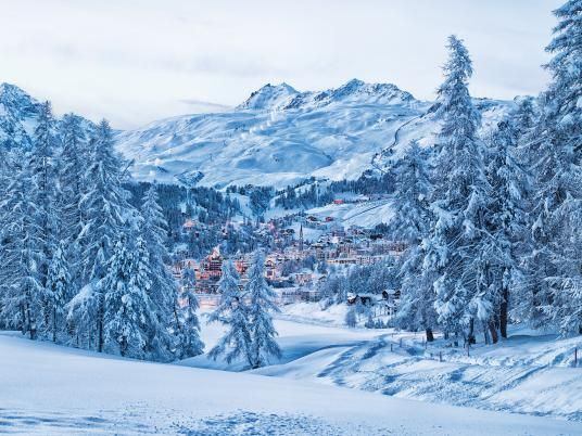Ski resort St. Moritz, Switzerland