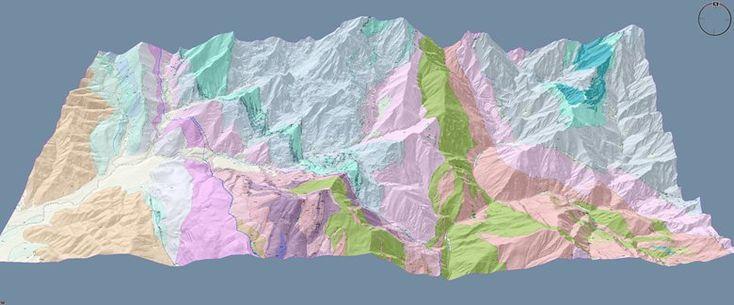 Plastico digitale interattivo Carrara e suo bacino marmifero, Bergiola Maggiore, 2017 - Alberto Antinori