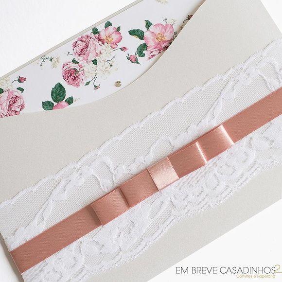 Convite de Casamento - Antique Rosé, convite clássico, convite romântico…
