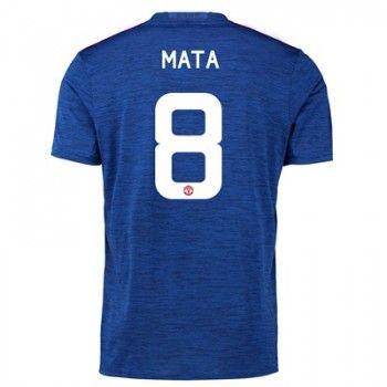 Manchester United 16-17 Juan Mata 8 Bortatröja Kortärmad   #Billiga  #fotbollströjor