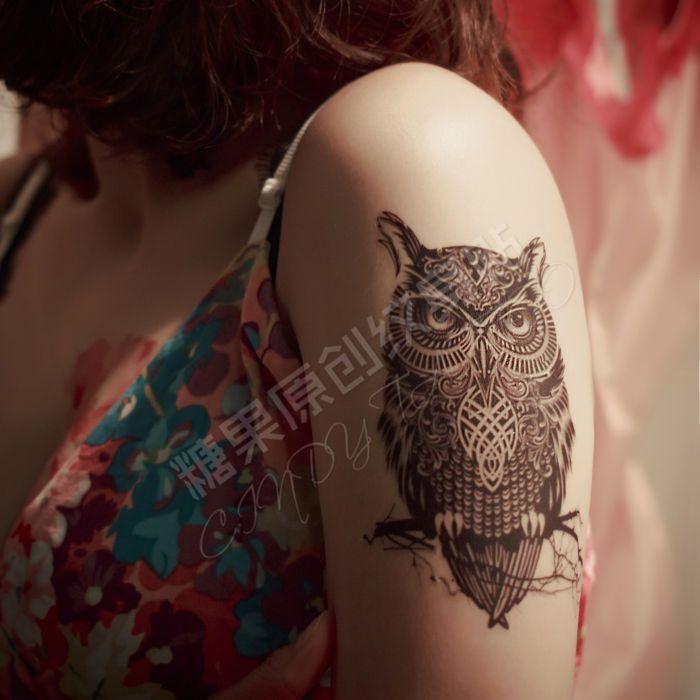 Leemin tatuagem temporária pintados à mão realista coruja tatuagem adesivos mulheres e homem à prova d ' água tatuagem adesivos braço em Tatuagens Temporárias de Beleza & saúde no AliExpress.com   Alibaba Group