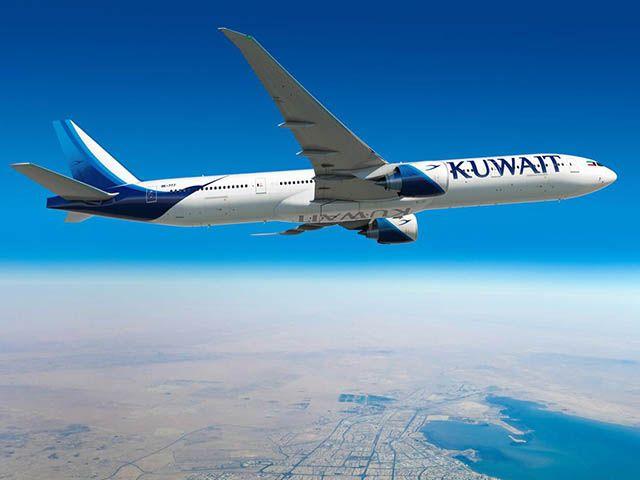 Kuwait Airways pose son premier 777-300ER à New York