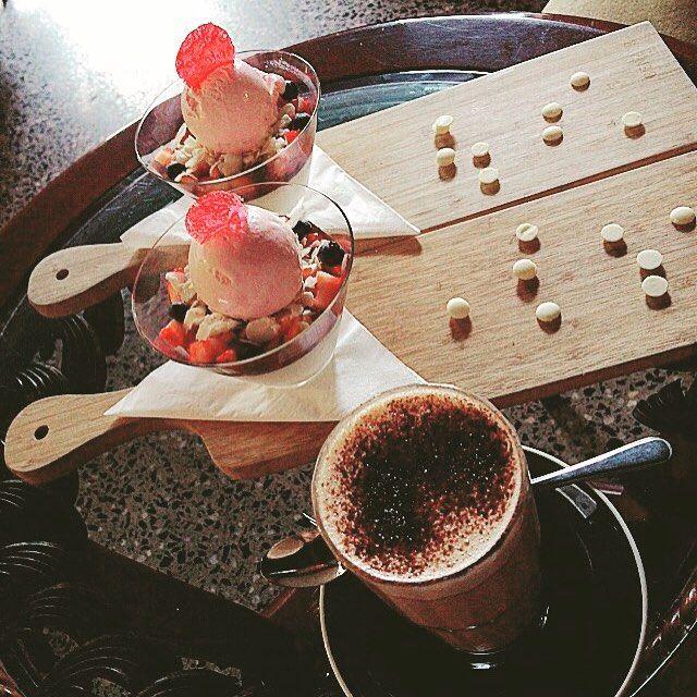 Photo #1141080650368569970 from @pizzancream. I'm chasing butterflies  #parfait#sugar#pink#chocolate#icecream#cherry#pannacotta#berries#food#yummy