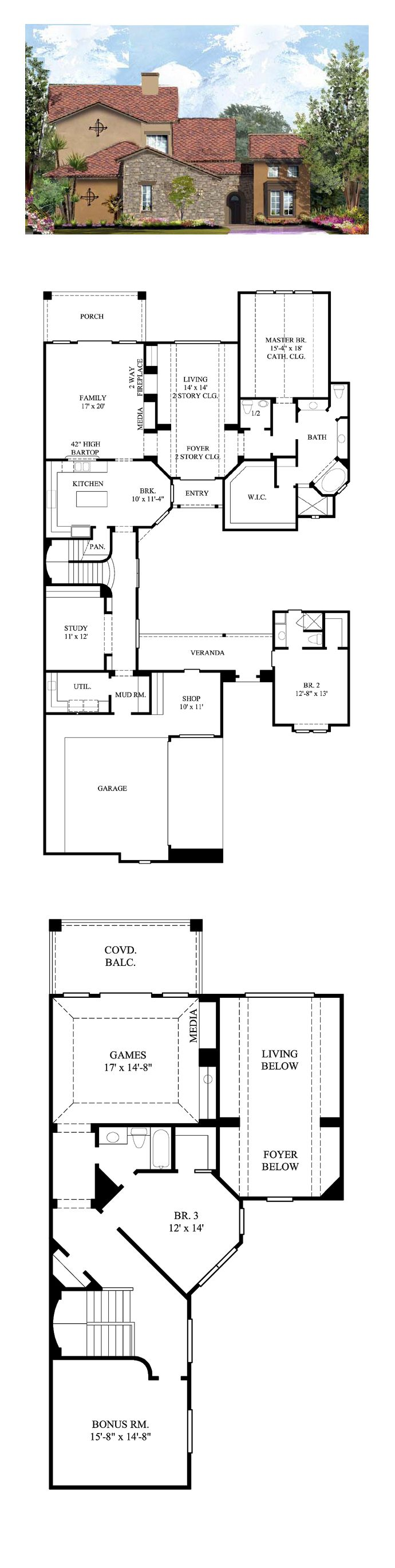 50 best Tuscan House Plans images on Pinterest | Floor plans, Tuscan ...