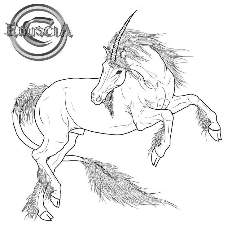 free unicorn linearteduscia.deviantart on