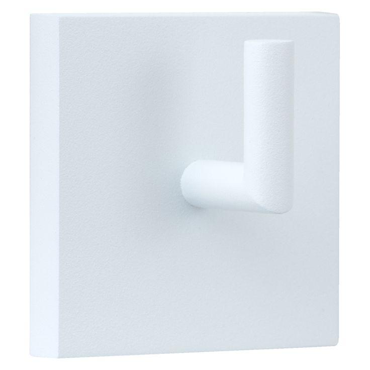 Jashaak, modern vierkant wit met lichte zandstructuur.
