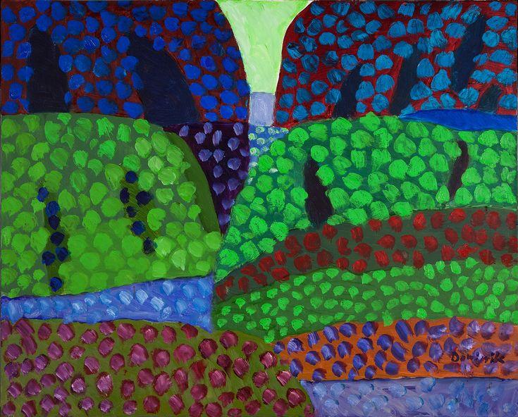 TADEUSZ DOMINIK (1928 - 2014)  PEJZAŻ, 2000   olej, płótno; / 81x100 cm