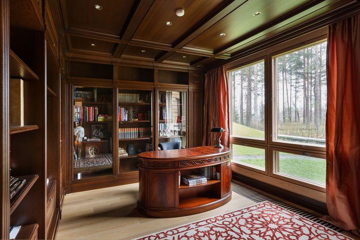 Фото интерьера кабинета дома в современном стиле