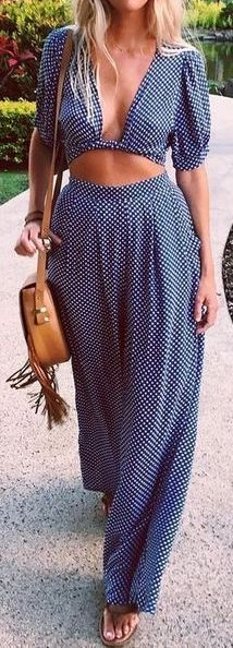 #Summer #Outfits for Spring Break / Two Piece Jumpsuit