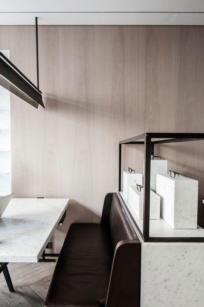 The Refurbished 'Lionel Sonkes' Optical Shop In Brussels, Belgium | http://www.yatzer.com/lionel-sonkes-nicolas-schuybroek-marc-merckx-brussels