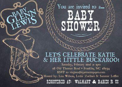 Western Baby Shower or Birthday Invitation - Qty. 12 on Etsy, $18.00