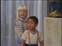 Heather O'Rourke and Emmanuel Lewis in Webster (1983)
