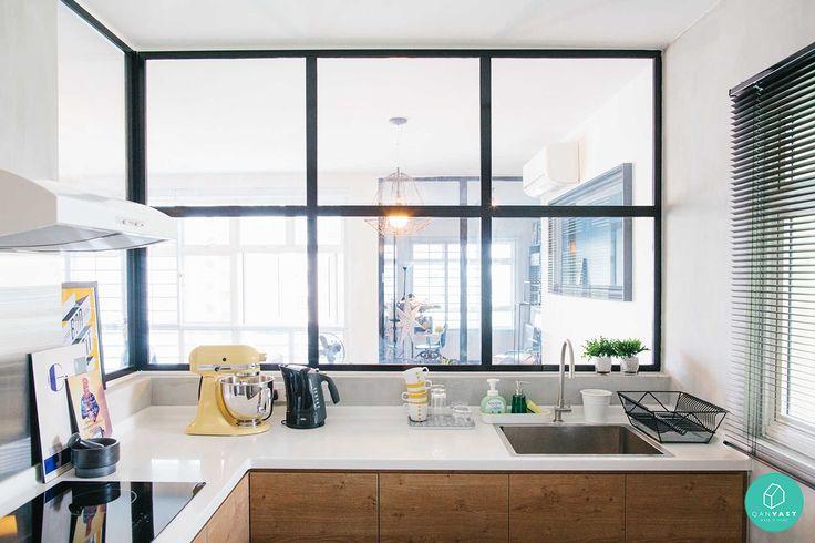 Alternative to a open kitchen. Merging industrial with scandinavian design. ZL-Construction-Boon-Keng-Kitchen