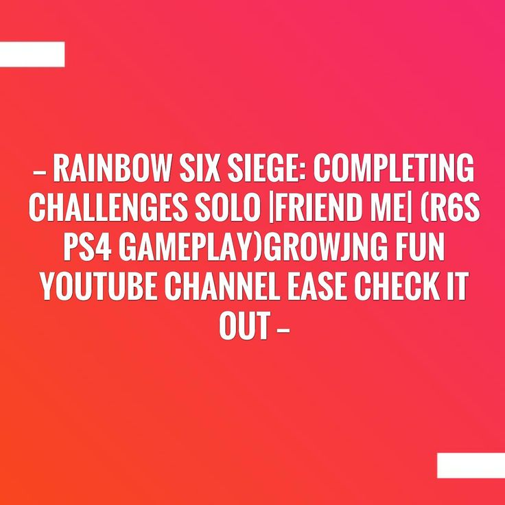 New on my blog! Rainbow Six Siege: Completing Challenges Solo |Friend Me| (R6S PS4 Gameplay)growjng fun youtube channel ease check it out http://alwaysbegaming.blogspot.com/2017/09/rainbow-six-siege-completing-challenges_28.html?utm_campaign=crowdfire&utm_content=crowdfire&utm_medium=social&utm_source=pinterest
