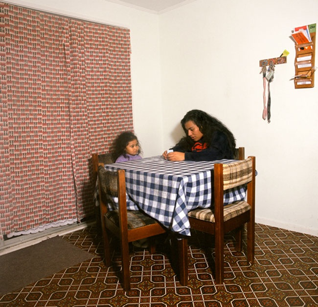 Edith Amituanai, Line and Shiloh playing cards, 2005, from the series, Mrs Amituanai, C-type photograph
