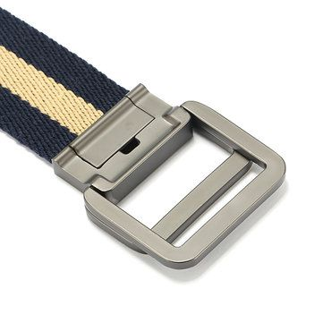 130CM Mens Alloy Buckle Canvas Military Belt Outdoor Climbing Tactical Double Ring Buckle Belts at Banggood