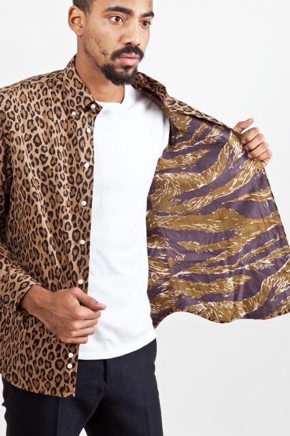 Tres Bien Shop x Gitman Vintage   Leopard + Tiger Stripe Shirts