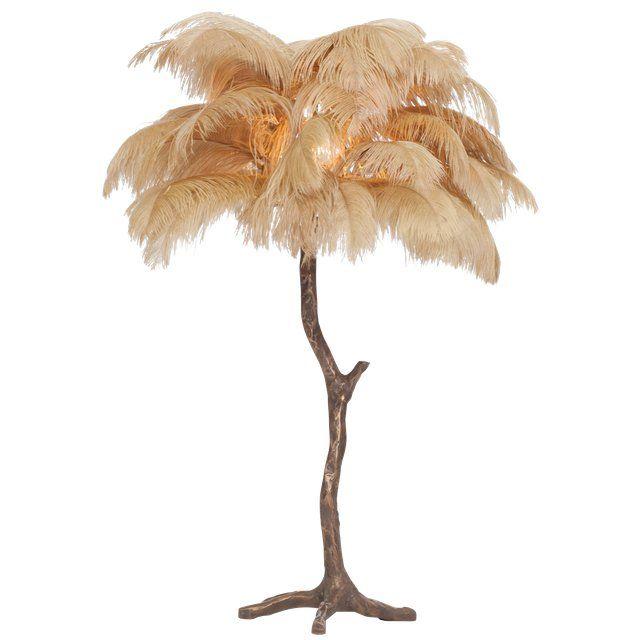 Chairish Feather Lamp Tree Lamp Lamp