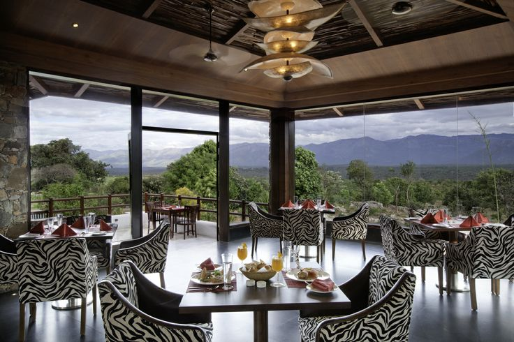 Sanctuary, the restaurant with a 180 degree view of the Bandipur National park and the mountain ranges.