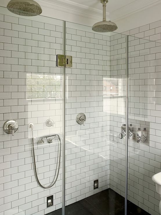 Luxury Some Inspiration Just Look At The White Bathroom Tile With Grey Grout