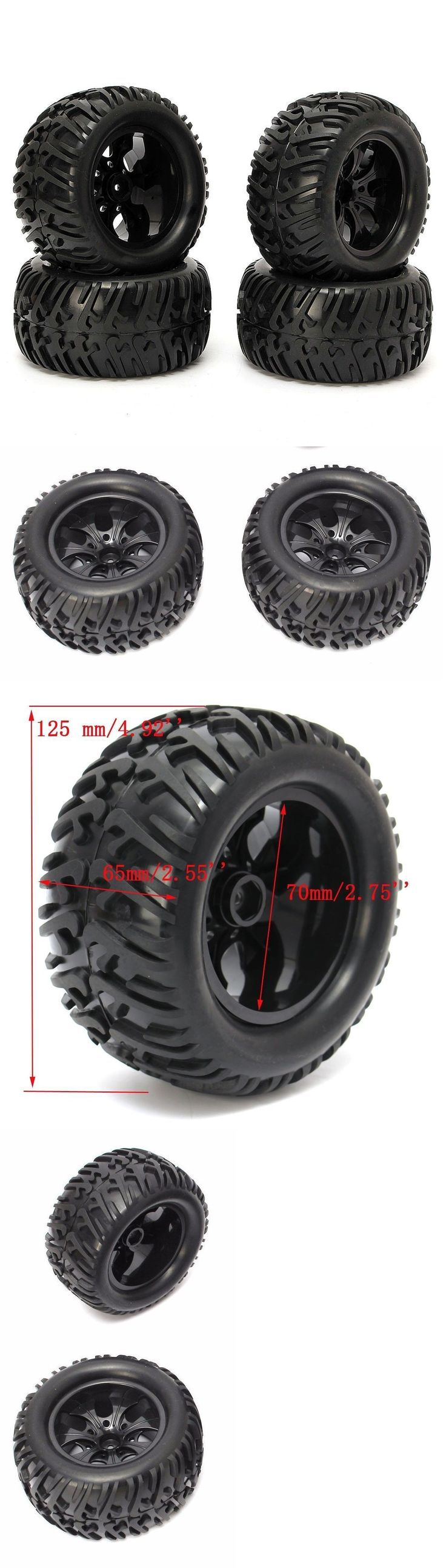Wheels Tires Rims and Hubs 182201: 4Pcs Wheel Rim And Tires Hsp 110 Monster Truck Off Road Rc Car 12Mm Hub 88005 -> BUY IT NOW ONLY: $119.9 on eBay!