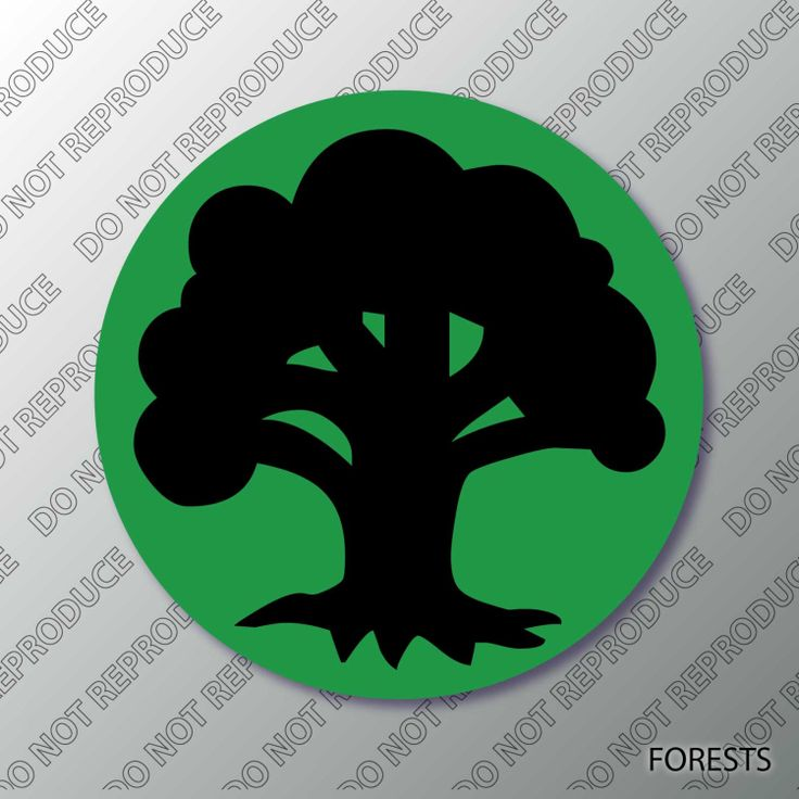 The O Jays A Symbol And Nature: MTG Forest Mana Symbol