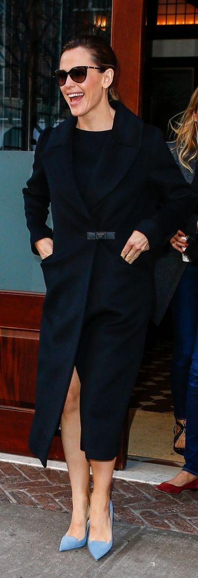 Jennifer Garner in Coat – Soia & Kyo  Shoes – Jimmy Choo